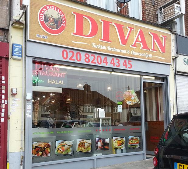 Divan harrow turkish feed the lion for Divan kebab menu
