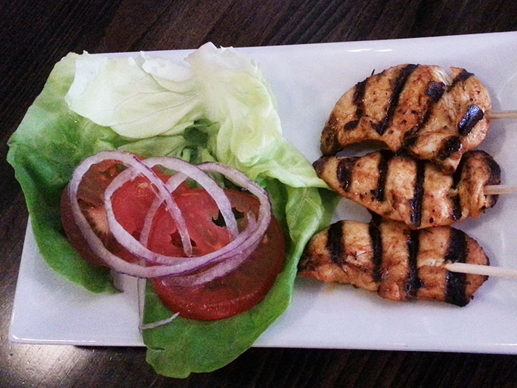 CHARGRILLED CHICKEN SKEWERS