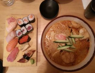 hare & tortoise ealing broadway Deluxe Sushi Box and Curry Laksa