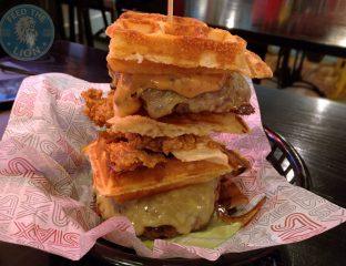 Frankenstein Special Secret Menu - Waffle burger