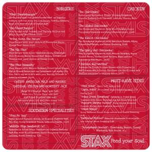 stax dinir menu