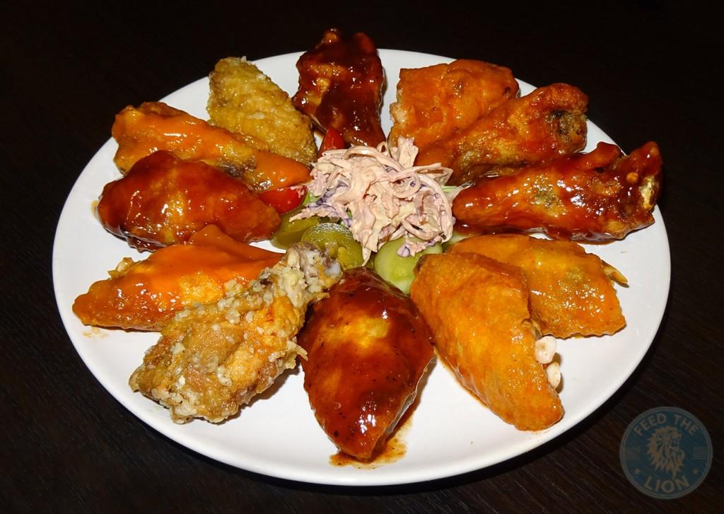 BUFFALO WINGS chicken meat rack