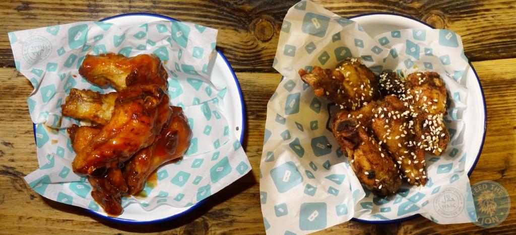 brioche burger Hot Chicken Wings & Dirty Dozen