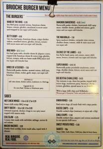 brioche burger menu