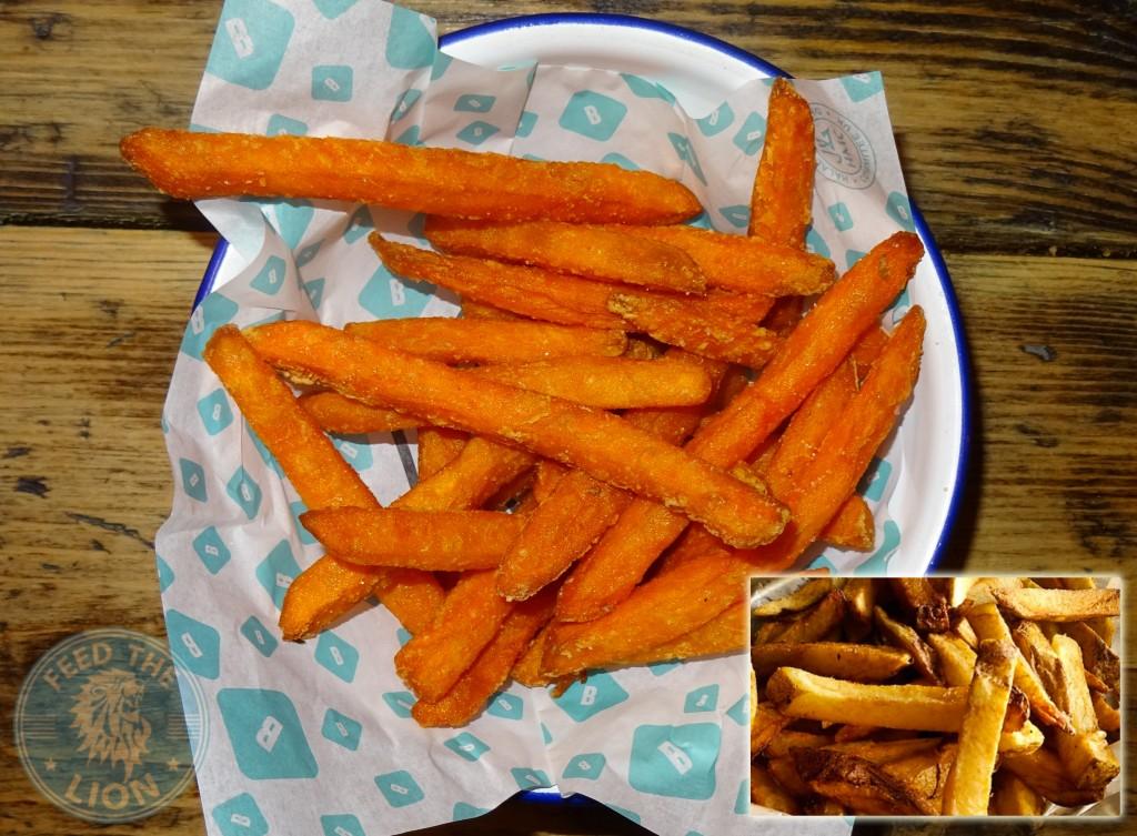 brioche burger fries chips