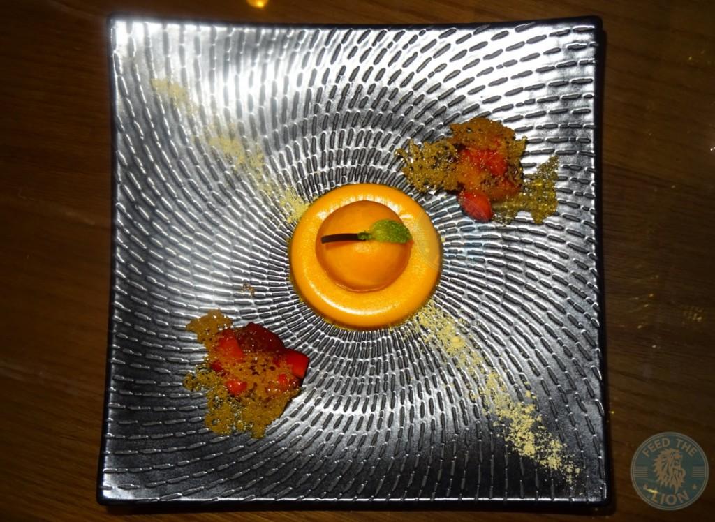 Citrus Anatomy - Mandarin cremeux, yuzu curd, lemon soil Dhs55