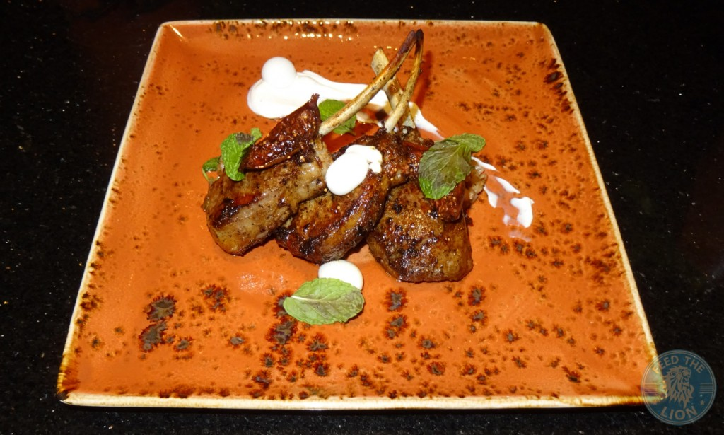 Lamb Chops - Sous vide chops, barley, labneh, romaine hearts