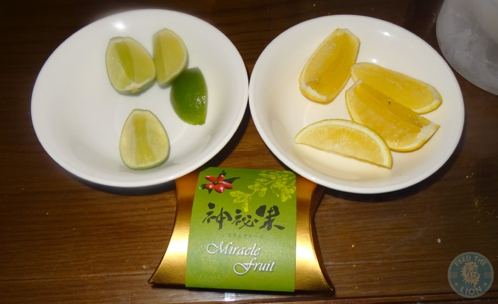 Miracle Fruit with Lemon and Lime