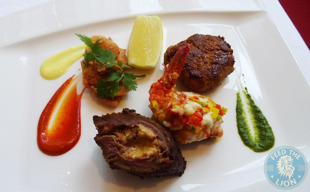 ananta Galouti Kebab, Shamshi Jhinga & Duck Khara Sena