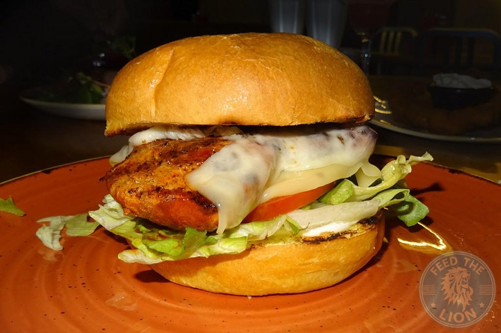 Signature chicken burger £7.95