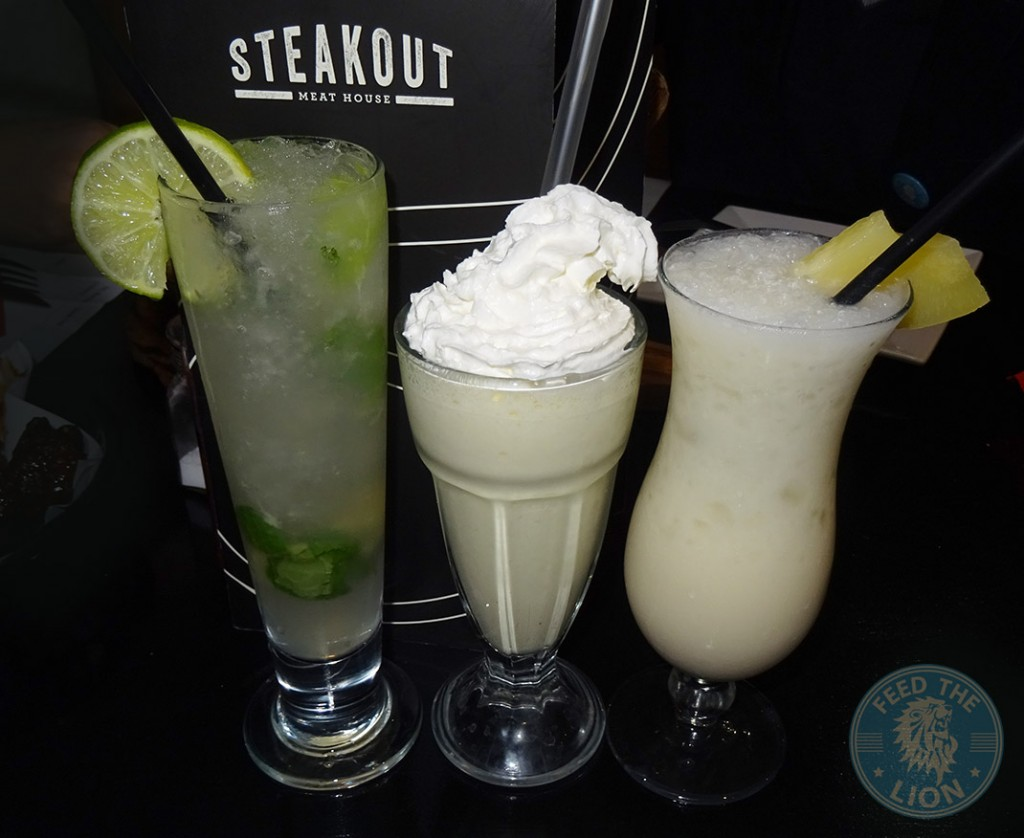steakout drinks Mojito Smoothie Pina Colada