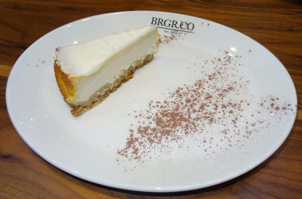 brgr.co BAKED VANILLA CHESSE CAKE - £3.75