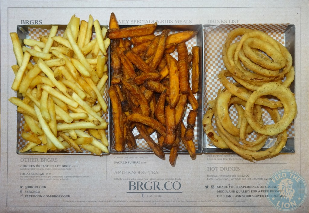 brgr.co CRUNCHY FRIES - SWEET POTATO FRIES, onion rings