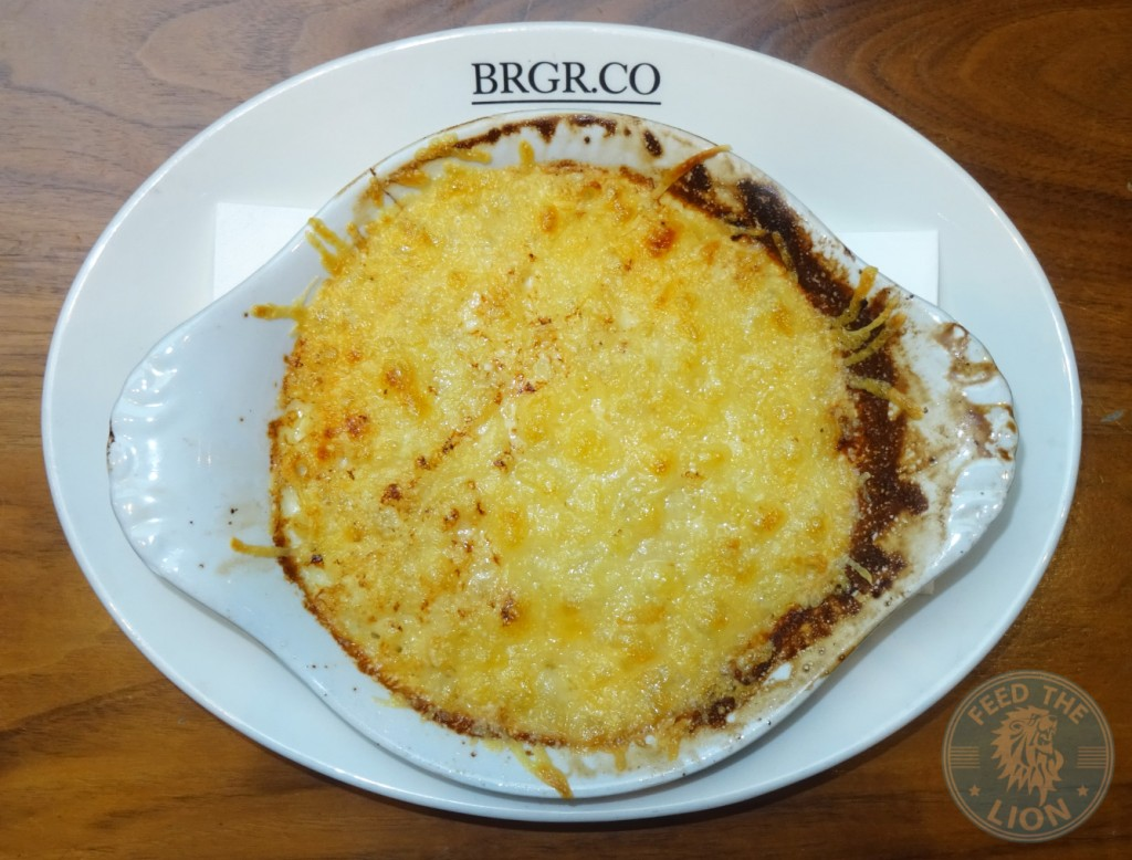 brgr.co OLD FASHIONED MAC N'CHEESE £5.00 MACARONI IN A CREAMY CHEESE SAUCE