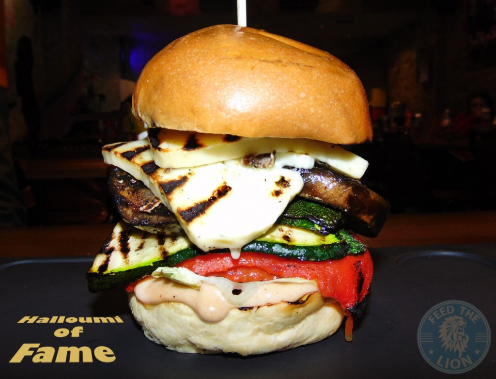 band of burgers camden bob Halloumi of Fame - Halloumi cheese burger with grilled aubergine, courgette and red peppers £7.50