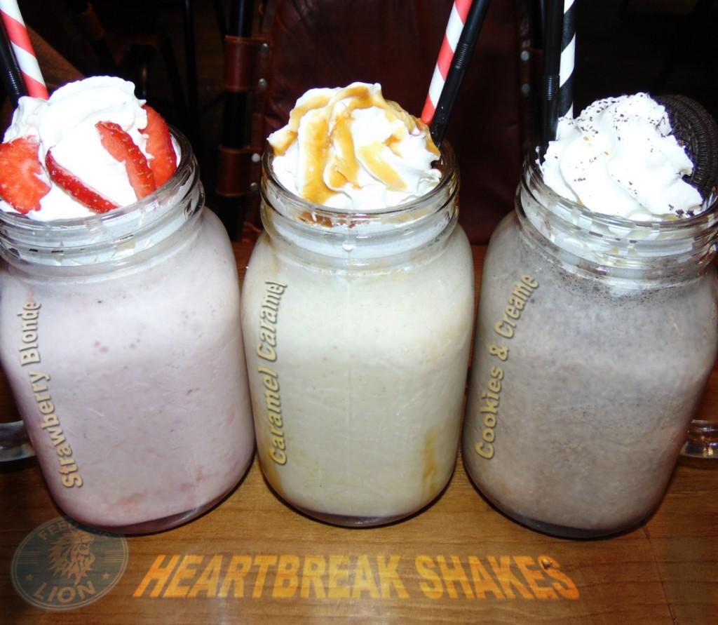 band of burgers camden bob SHAKES - Strewberry Blonde, Caramel Caramel, Cookies & Creame, £4