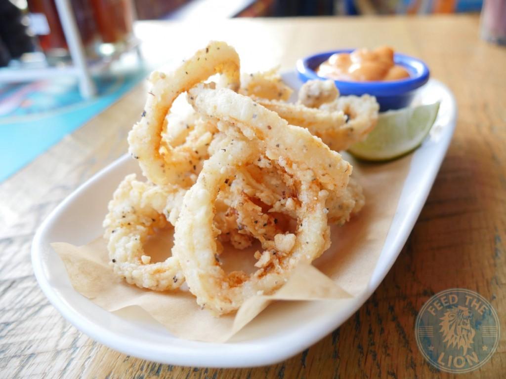 cabana- Crispy Squid 5.95 Salt and pepper crispy squid with Malagueta mayo