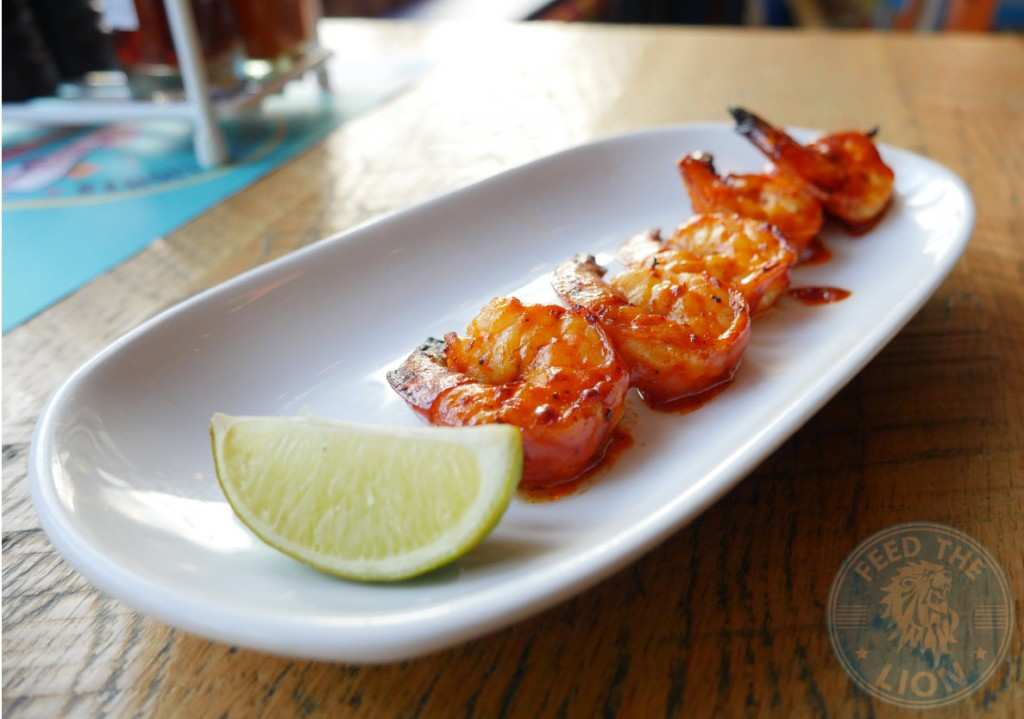 cabana- SPICY MALAGUETA PRAWNS Gluten Friendly 5.95 Five grilled Atlantic prawns, basted with our Spicy Malagueta sauce