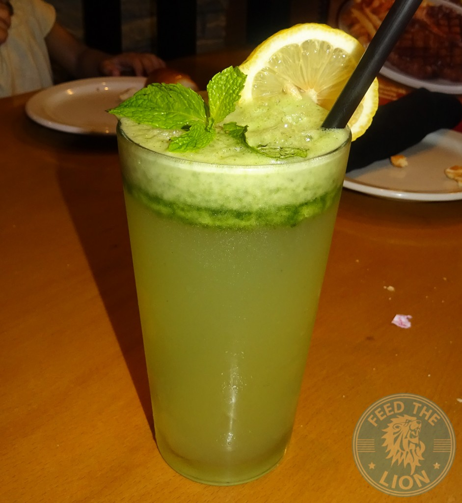 Mint Lemonade 19 AED texas road house drink steak meat burger