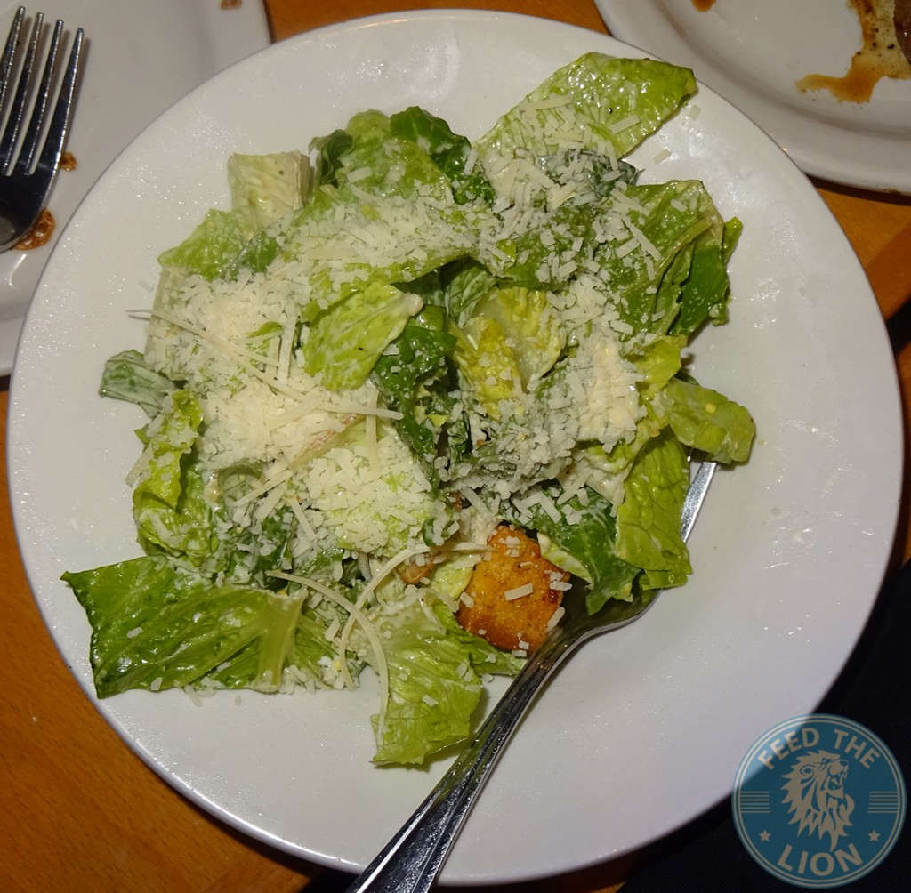 Ceaser Salad fresh parmesan cheese, croutons & zesty ceaser dressing. texas road house