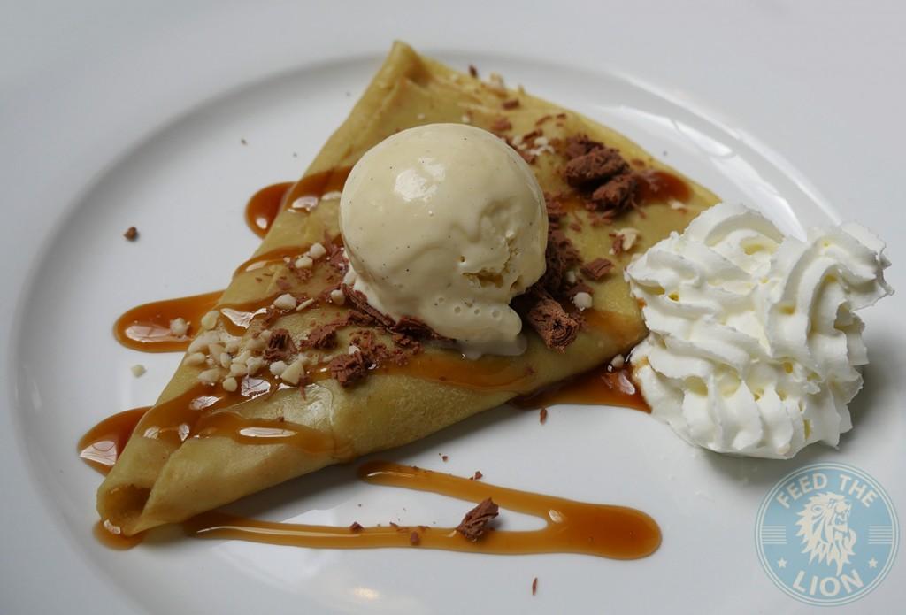 meat house london desserts Caramel Peanut Crepe waffle
