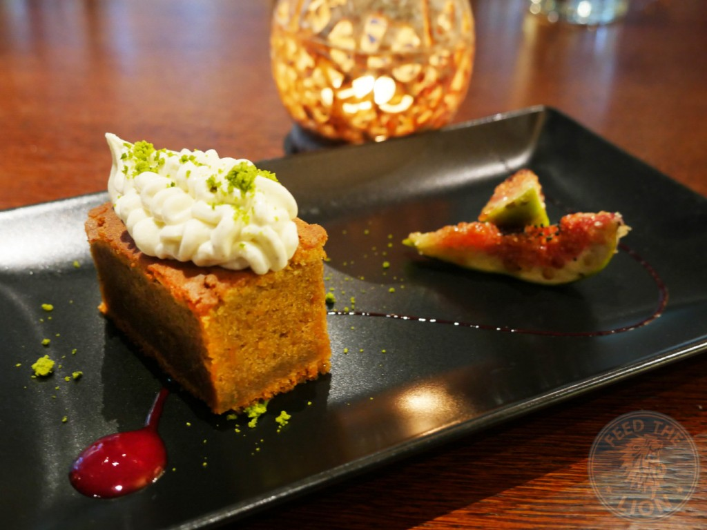 daawat food darbaar abdul yaseen liverpool street indian fine dinning TASTING OF SPICED CARROT CAKE, CARDAMOM SHIRIKHAND & LEMON FIGS