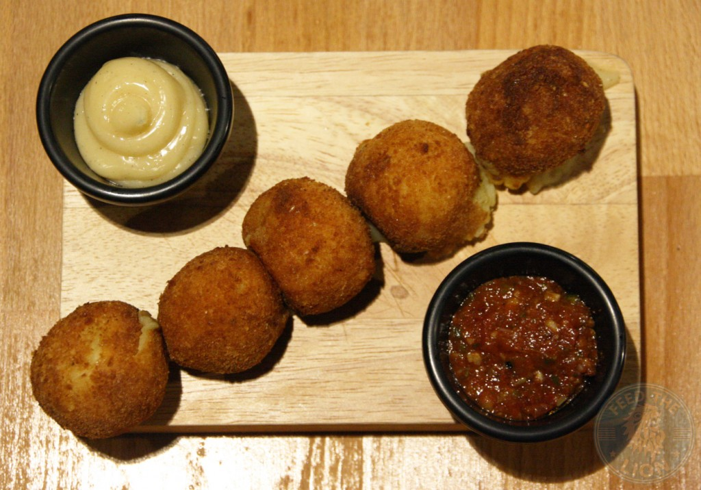 Croquettes-with-mincemeat burger rebel dubai gourmet chicken
