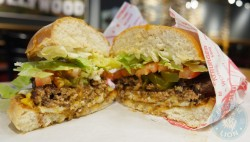 Fat Burger Camden buffelo wings world famous Rancheros Burger £8.50