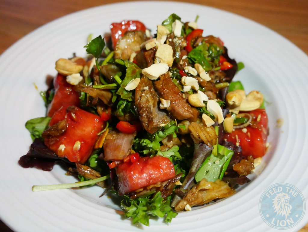chi kitchen DUCK AND WATERMELON SALAD