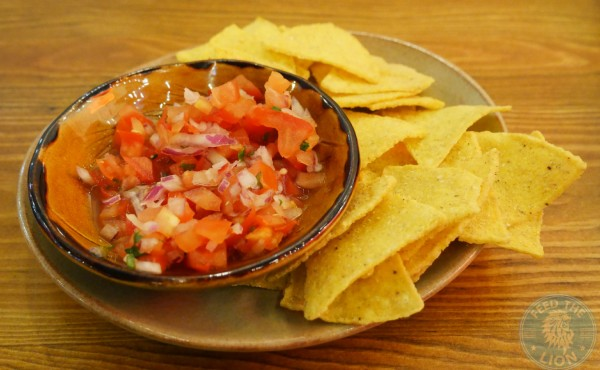 Fresh Tomato Salsa with Tortilla Chips £1.50
