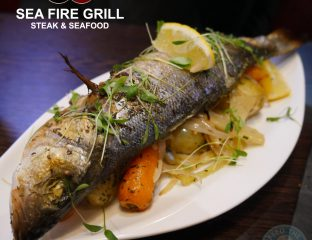 Sea Fire Grill - Steak & Seafood, Camden halal burger hmc fish sea bass