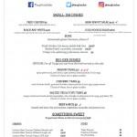 Tang London menu