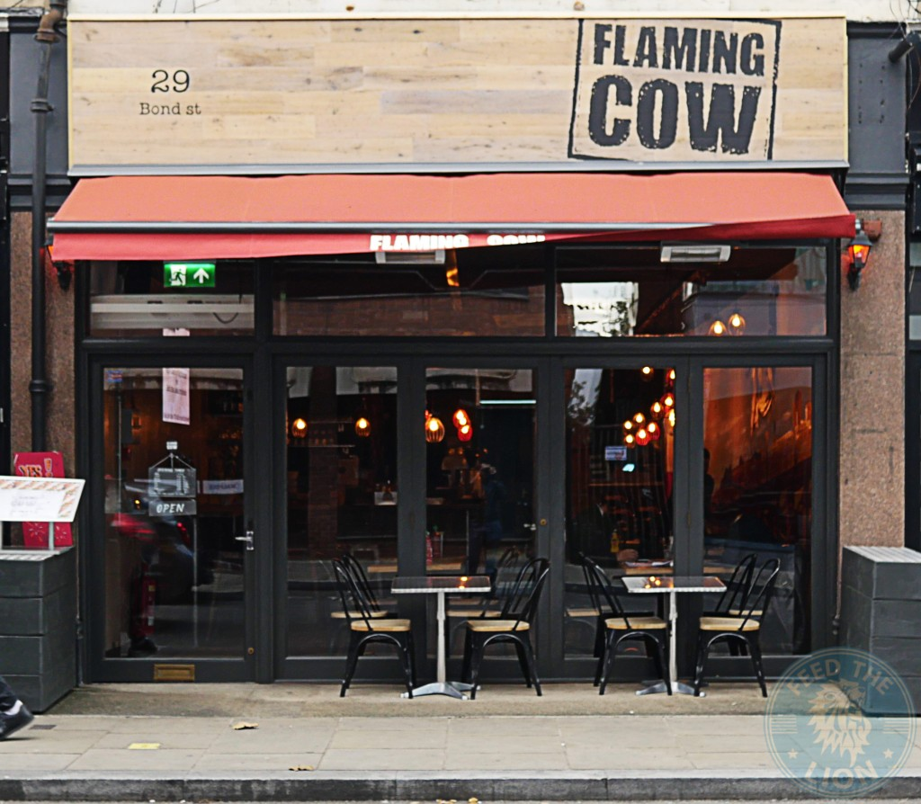 Flaming Cow Ealing Broadway Goutmet burger American dinning