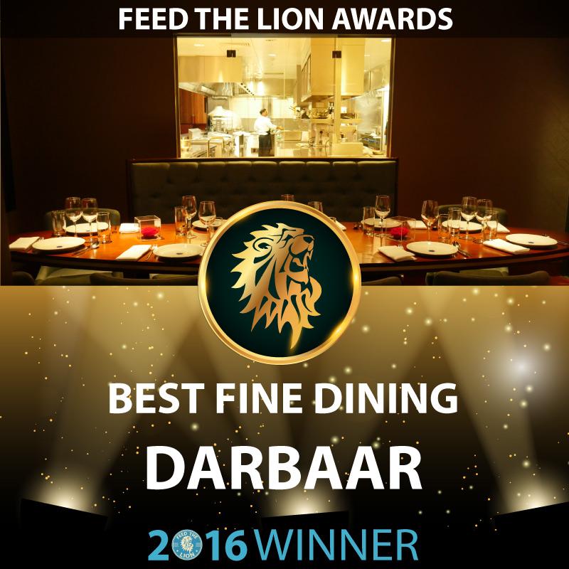 ftl feed the lion halal awards 2016 winners Best Fine Dining Darbaar Abdul Yaseen Darbaar