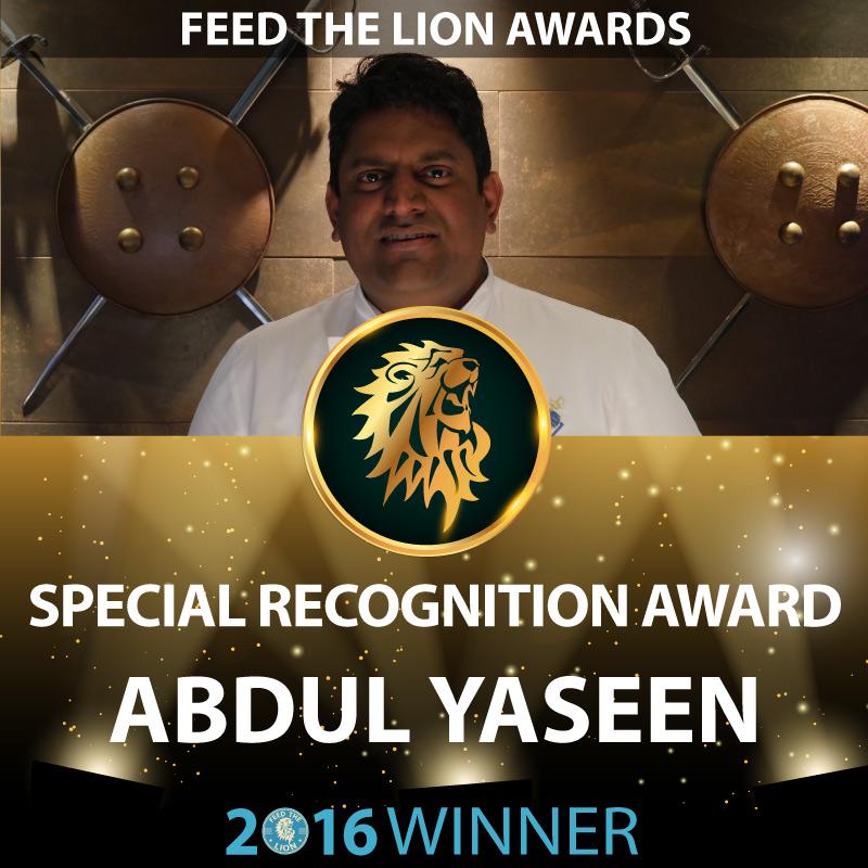 ftl feed the lion halal awards 2016 winners recognition award Abdul Yaseen Darbaar