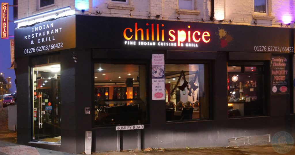 halal Chilli Spice Surrey grill Camberley Indian curry GU15 London Road