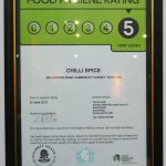 food hygiene rating 5 Chilli Spice Surrey Camberley Indian curry