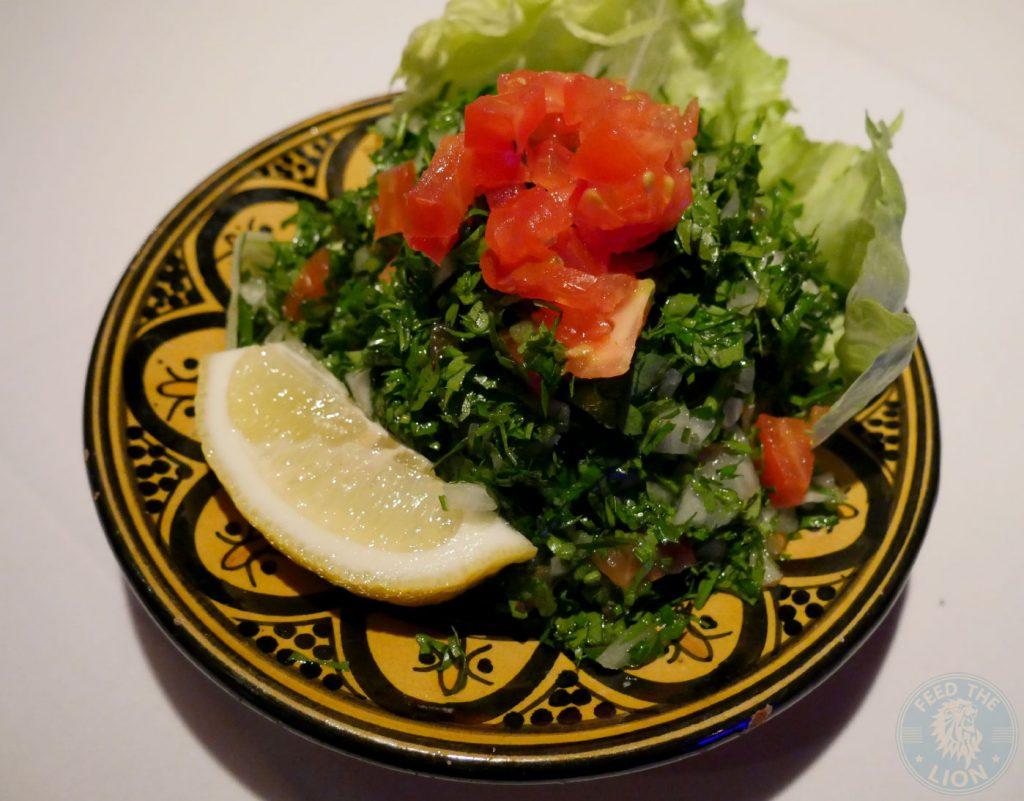 Tabbouleh Zenobi London Lebanese Restaurant Halal South Kensington
