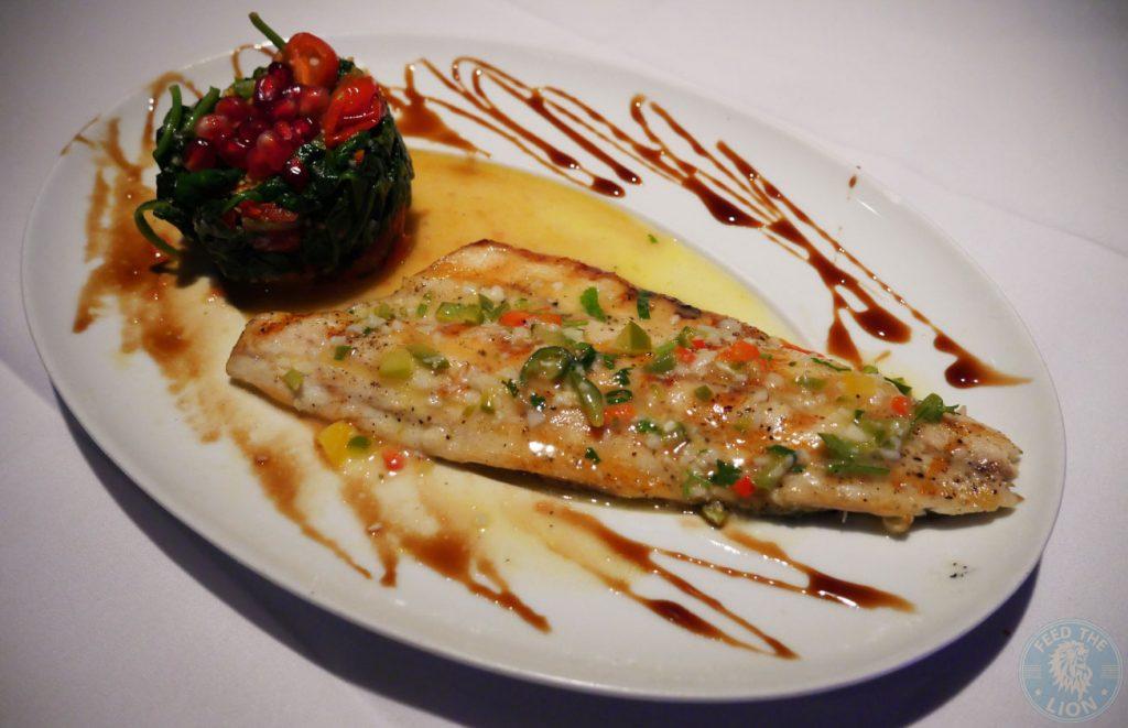 sea bass Zenobi London Lebanese Restaurant Halal South Kensington