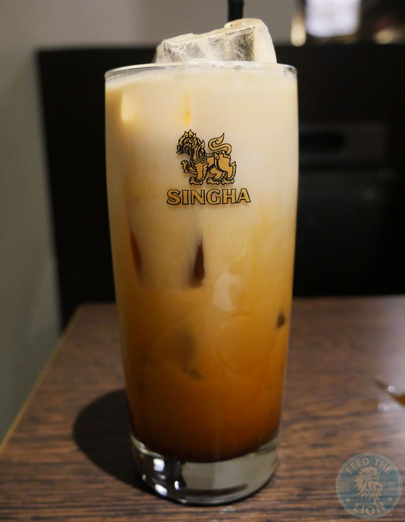 Thai Milk Tea £2.99 iced tea Horapha Thai Cuisine Queensway Halal London Restaurant