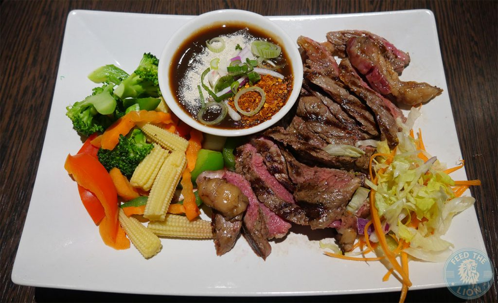 steak sirloin Horapha Thai Cuisine Queensway Halal London Restaurant