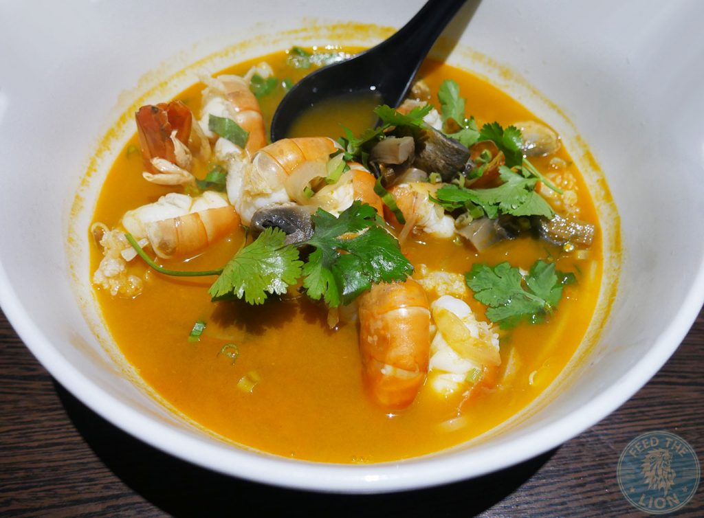 Prawn Tom Yum Noodle Soup £10.95 Horapha Thai Cuisine Queensway Halal London Restaurant
