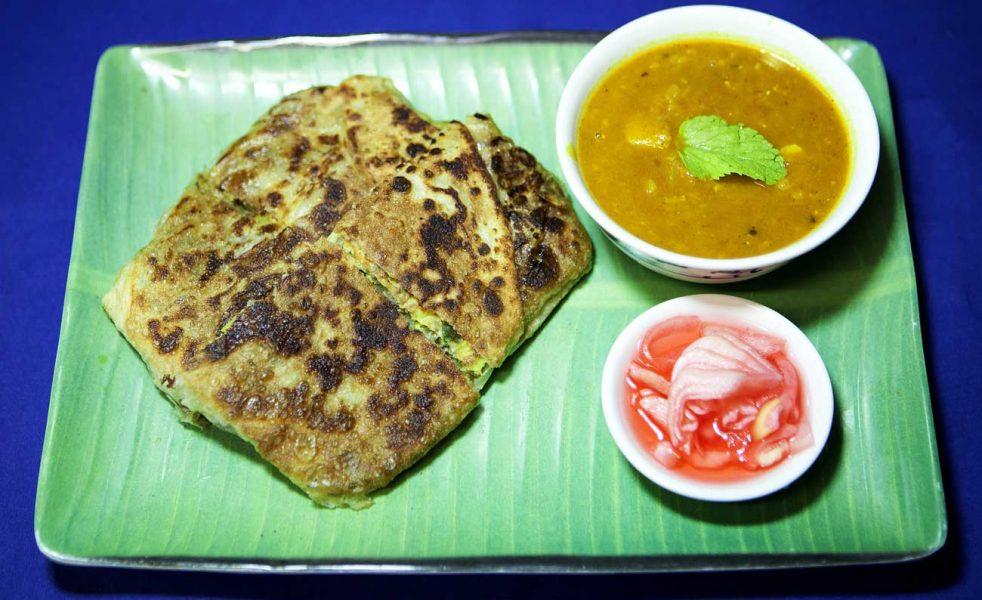 Murtabak – Stuffed pan fried bread with a minced meat filling