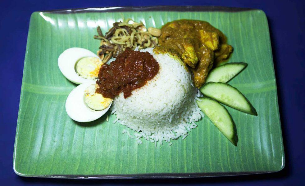 Nasi Lemak – Traditional Malaysian breakfast