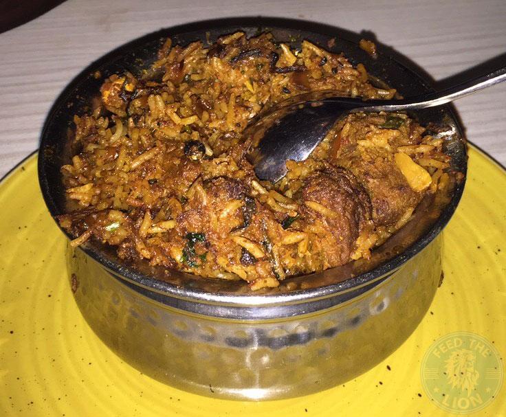 Scene Indian Restaurant Manchester Halal Food rice biryani