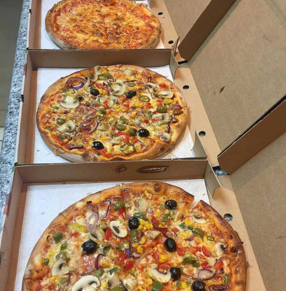 Selection of delicious Pizzas