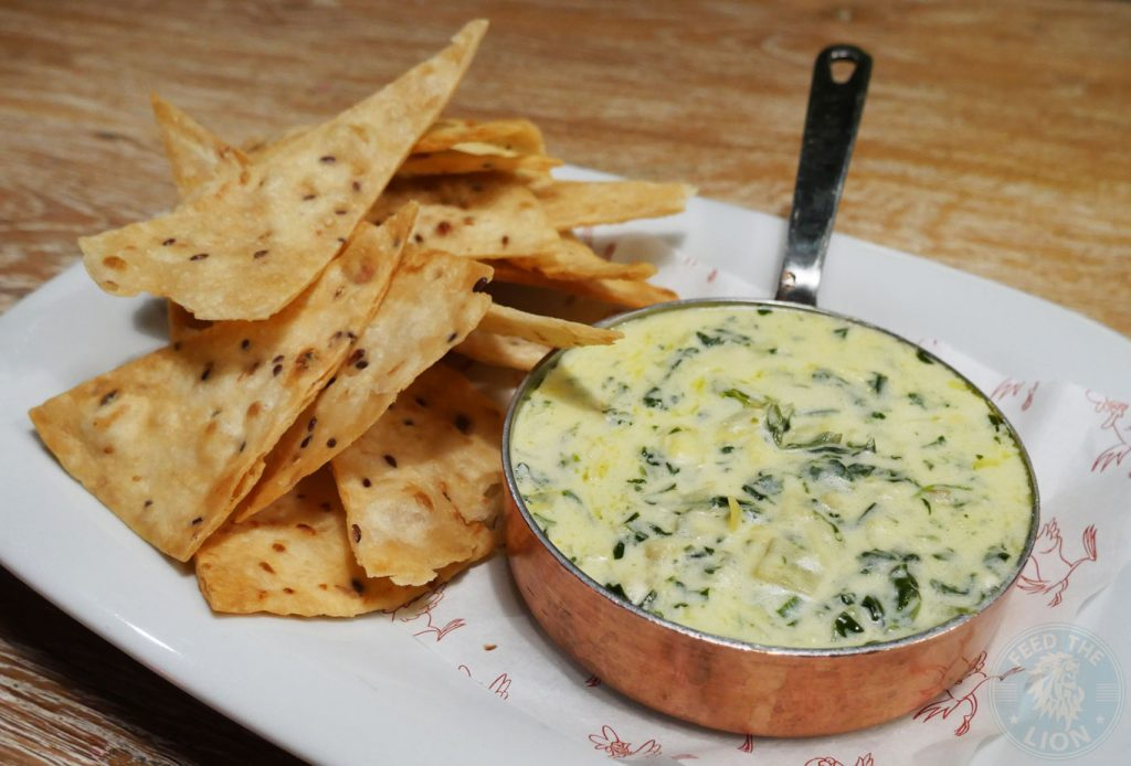 Spinach & Artichoke Dip (v) - With fried tortilla chips, £6.80