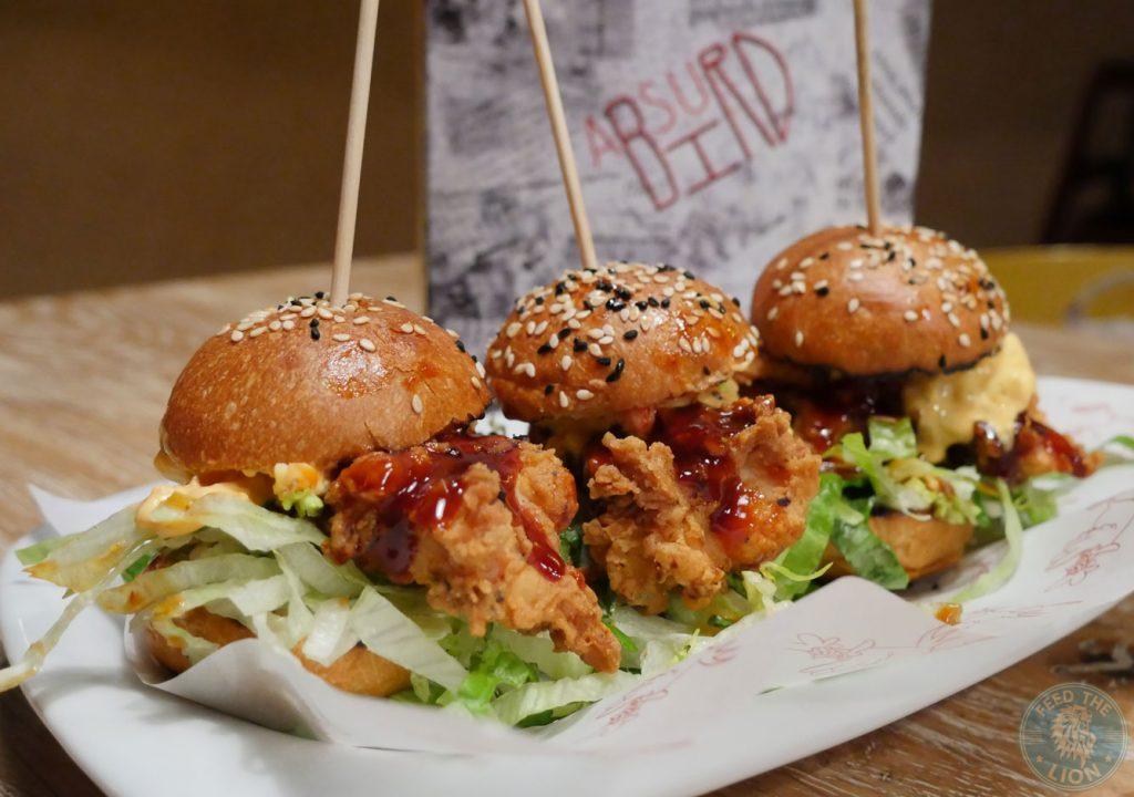 Slider Burger Absurd Bird chicken halal