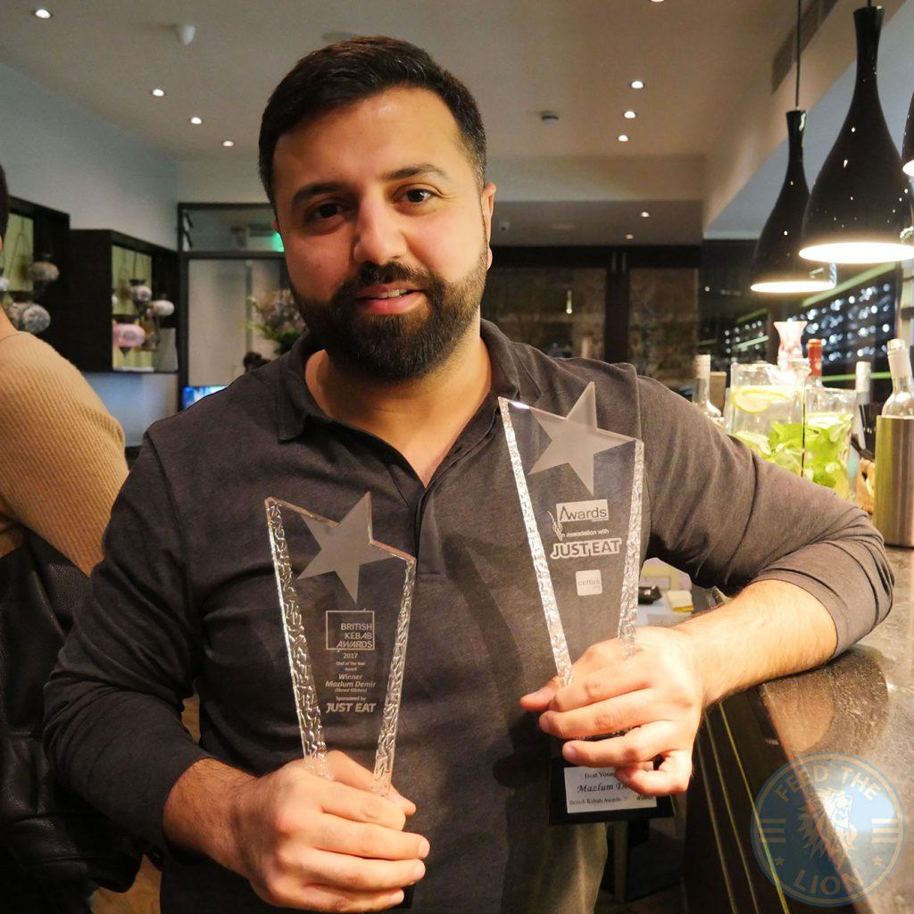 Mazlum Demir Just Eat Best Chef Kebab Award steak Skewd Kitchen Turkish Halal Cockfosters