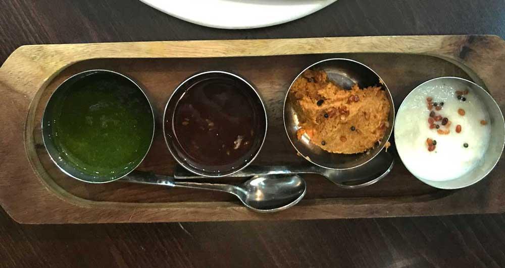 chettinad indian leicester curry samosa chutney vegetarian